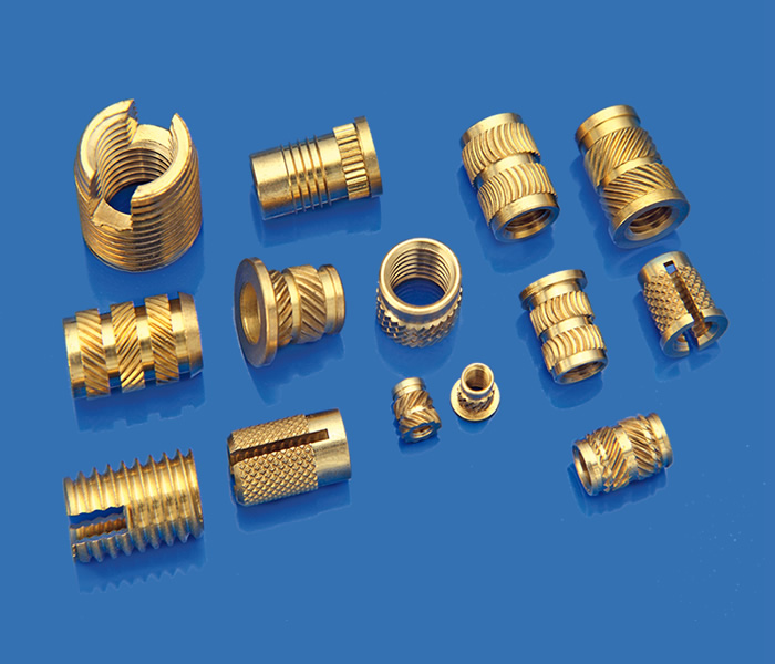 Threaded inserts and fasteners for plastic