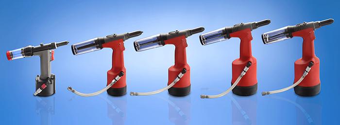 Pneumatic riveting tools