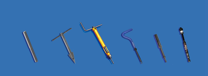 Tools and accessories for wire inserts installation