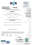 Certificate FIXI ISO RINA