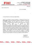 Certificate FIXI REACH