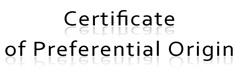 FIXI - certificate of preferential origin